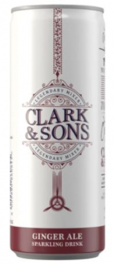 CLARK & SON GINGER ALE SODA 6X250ML