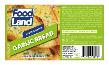 FOODLAND CHEESE & ONION GARLIC BREAD