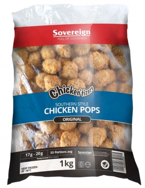 SOUTHERN STYLE CRUMBED CHICKEN POPS 1KG