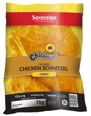 SOUTHERN STYLE CRUMBED CHICKEN CHEESY SCHNITZELS