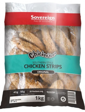 SOUTHERN STYLE CRUMBED CHICKEN STRIPS 1KG