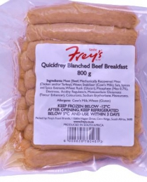 FRYS BEEF SAUSAGE BLANCHED BREAKFAST 800G