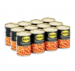 KOO BAKED BEANS IN TOMATO SAUCE 12X410G