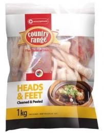COUNTRY RANGE CHICKEN HEADS & FEET (FROZEN)