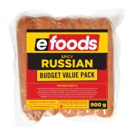 EFOODS BUDGET SPICY PORK RUSSIANS