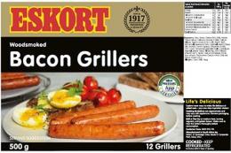 ESKORT PORK BACON GRILLER (CHILLED) 12X500G