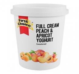 FIRST CHOICE FRUITED PEACH & APRICOT YOGHURT