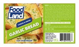 FOODLAND GARLIC BREAD CHEESE & ONION