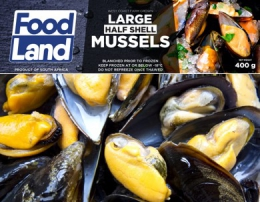FOODLAND MUSSELS HALF SHELL - LARGE GRADED