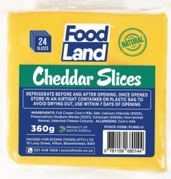 FOODLAND CHEESE NATURAL CHEDDAR SLICES