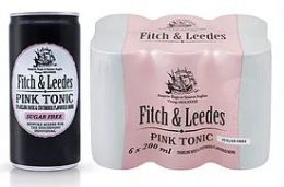 FITCH & LEEDS SODA PINK SUGER FREE (6X200ML)
