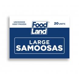 FOODLAND LARGE SAMOOSAS 20's