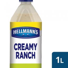 CREAMY RANCH SALAD DRESSING HELLMANNS 1LT