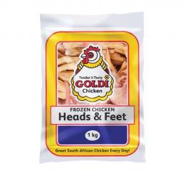 GOLDI CHICKEN HEADS & FEET (FROZEN)