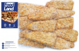 FOODLAND CRUMBED HAKE STEAKIOS (12X75G PORTIONS)
