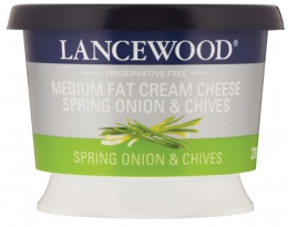 LANCEWOOD CREAM CHEESE SPRING ONION/CHIVES