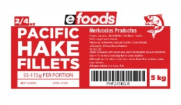 EFOODS BUDGET HAKE FILLETS (2/4oz) - 55 TO 115G