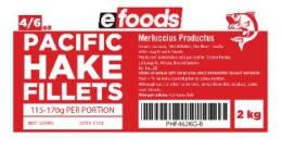 EFOODS BUDGET HAKE FILLETS (4/6oz) - 116 TO 170G