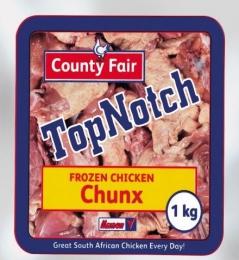 COUNTY FAIR TOP NOTCH CHICKEN CHUNKS (FROZEN)